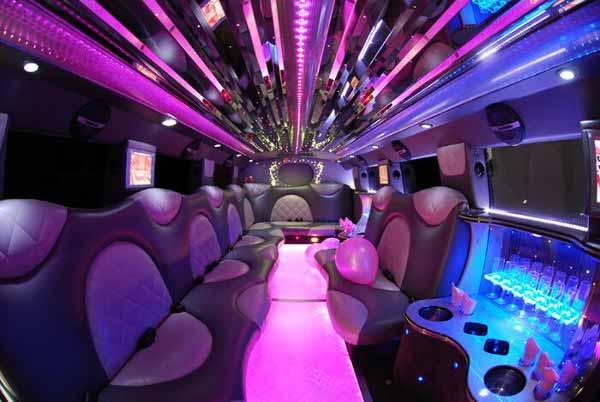 Cadillac Escalade limo interior Birmingham