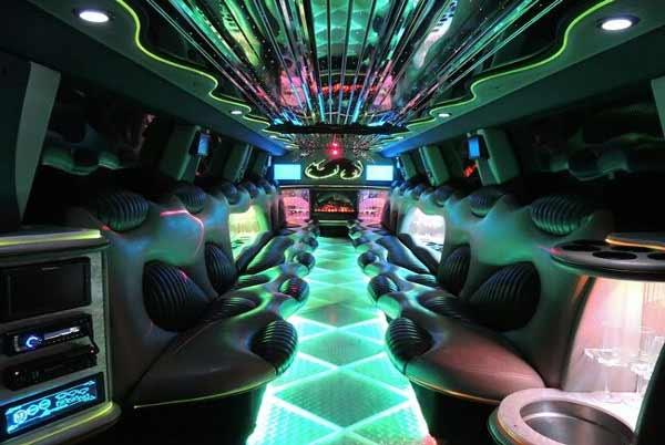 Hummer limo interior Birmingham